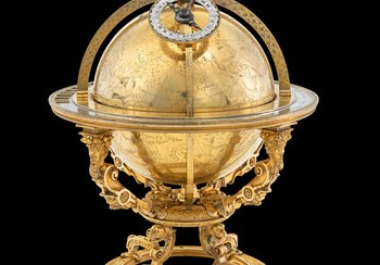 Celestial globe, created by Jost Bürgi, 1594. Brass, gold-plated | © Swiss National Museum