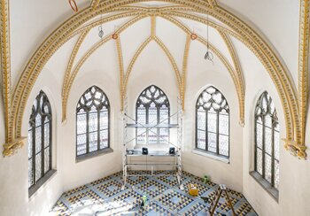 Renovation work in the upper chapel  | © Photo: Roman Keller, Zurich