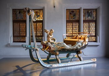 Luxury sleigh crafted by Hans Wilhelm Tüfel (1631-1695), around 1680, Sursee, Canton of Lucerne. | © Swiss National Museum