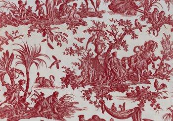 'Four Parts of the World' textile, from the Oberkampf factory in Jouy, around 1785 | © Swiss National Museum, former Petitcol Collection