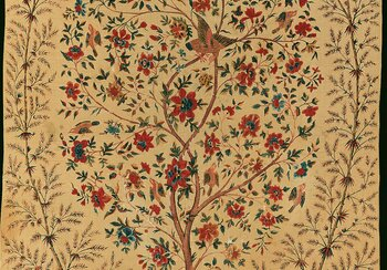 Wall hanging (palampore) with tree of life from the Coromandel Coast, India, around 1740 | © Rainer Wolfsberger, courtesy of Rietberg Museum
