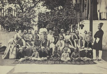Household with Indian staff, approx. 1871 | © Sign.-No Dept 42/1809, Municipal Archives, Winterthur
