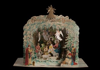 Fold-up nativity scene from Constance, circa 1910, cardboard, sheet metal, gelatine foil, loan from Alfred Dünnenberger | © Alfred Dünnenberger
