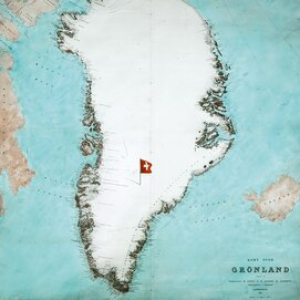 Greenland map, The Royal Danish Library, 1906.